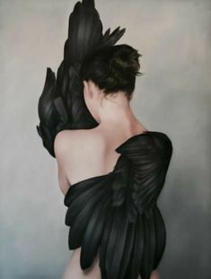 Amy Judd's Paintings Ange Demon, Monochrom, Aesthetic Photo, Surreal Art, Belle Photo, Dark Art, Art Inspo, Fantasy Art, Portrait Photography