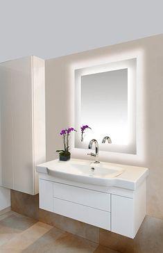 lighted bathroom mirror lighting inspiration for bathroom and vanities sail by edge lighting bathroom lighting modern