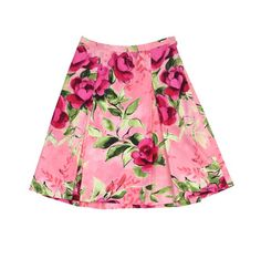 Moschino Cheap & Chic Floral Print Cotton Skirt