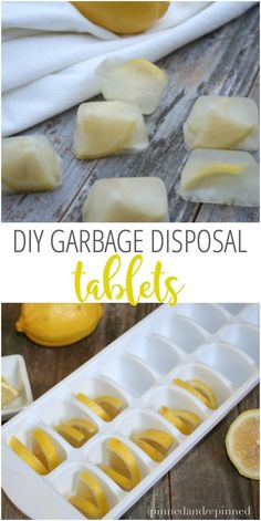 DIY Garbage Disposal Tablets you'll want to make ASAP for a more natural clean! via @pinnedandrepinn
