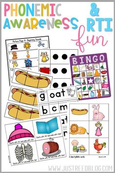 Do your students need a fresh dose of Phonemic Awareness FUN? These are great for Pre-K or K...as a review in first grade....or for RTI in 1st or 2nd!