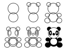 Drawing Cartoons You don't need bamboo to feed this adorable cartoon panda with love! Just learn how to draw the character and you should be fine! :) - Learn how to draw a panda using basic shapes with this easy and simple method. Drawing Cartoon Characters, Character Drawing, Cartoon Drawings, Animal Drawings, Drawing Lessons, Drawing Tips, Art Lessons, Doodle Drawings, Doodle Art