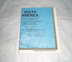 National Geographic  vintage map  published in 1972