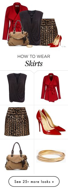 """Fun Skirt"" by ksims-1 on Polyvore featuring Roberto Cavalli, Christian Louboutin, BGN, Madewell and Michael Kors"