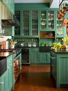 Are You Gutsy Enough To Paint Your Cabinets A Bold, New Color?