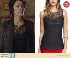 Wendy's black leather top with lace inset on Witches of East End Fashion Tv, Love Fashion, Fashion Looks, Fashion Outfits, Stylish Work Outfits, Classic Outfits, Cool Outfits, Witch Outfit, La Mode