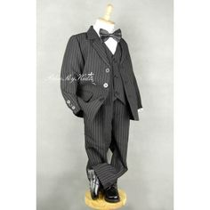 Blue Sky Kids Land Boys Formal Suit Set Size Black Pin Stripe Great for Formal Occasions, Weddings, Communions and other special functions Boys Formal Suits, Black Stripes, Jackets, Pants, Blue, Fashion, Down Jackets, Trouser Pants, Moda