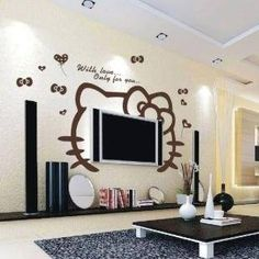 Superb Hello Kitty Living Room/ Entertainment Hello Kitty Bedroom, Cat Bedroom, Hello  Kitty House