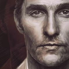 Mcconaughey #workinprogress #wip #mathewmcconaughey #actor #portrait #liamgolden #liamgolden44 #artwork #painting
