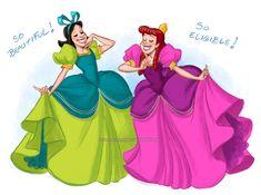 Afbeeldingsresultaat voor cinderella anastasia and drizella cosplay Disney Villains, Disney Movies, Disney Pixar, Walt Disney, Disney Characters, Disney Princesses, Disney Bound, Disney Stuff, Cinderella Stepsisters