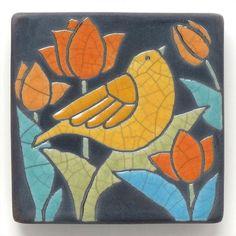 Mosaic Birds, Ceramic Birds, Ceramic Art, Tile Art, Mosaic Art, Bird Applique, Clay Texture, Raku Pottery, Gelli Printing
