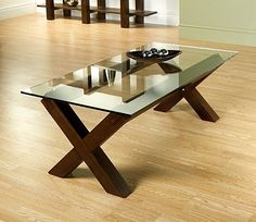 Buy the Lyon Walnut Glass Coffee Table at Oak Furniture Superstore Oak Coffee Table, Glass Top Coffee Table, Coffee Table Design, Modern Coffee Tables, Walnut Furniture, Dining Furniture, Living Room Modern, Home Living Room, Small Glass Side Table