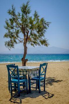 Table for u and I, Naxos. Beautiful Islands, Beautiful World, Cyclades Greece, Mykonos Greece, Athens Greece, Wonderful Places, Beautiful Places, Myconos, Nature Landscape