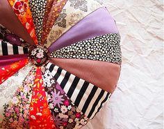 Okrúhly vankúš z bavlnených látok I. by DARTASKA - SAShE.sk - Handmade Úžitkový textil