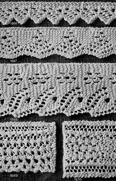 Free Vintage knitted edging patterns.