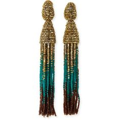 Oscar de la Renta Ombre Swarovski® Crystal Tassel Earrings