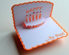 Pop-Up Birthday Card - Birthday Cake via Etsy