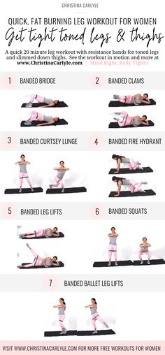 Calorie Burning Resistance Band Exercises for Toned Legs and Thighs