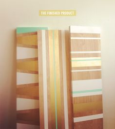 DIY Minty Gold Shelf Inspiration from Apartment Therapy. Diy Wand, Painting Shelves, Diy Painting, Shelf Inspiration, Design Inspiration, Home Design, Diy Design, Interior Design, Diy Projects To Try