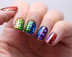 Copycat Claws: Glitter Rainbow #nail #nails #nailart