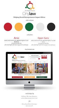 Ony Law, website design by Katelyn Brooke Designs