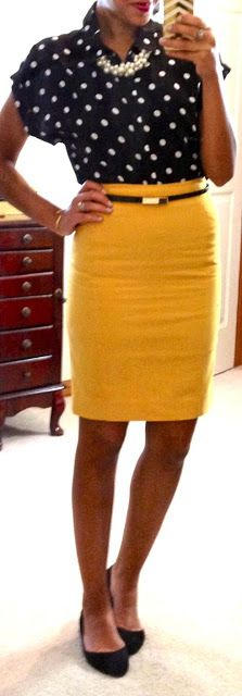 Black and Yellow outfit with gold accessories (and an arrow bangle!)