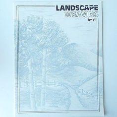 SOLD!   Landscape-Weaving-Book-by-Vi-Larson-Vtg-1989-Rare