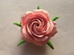 Sato öt gyártása rózsa origami bemutató 54. lépés