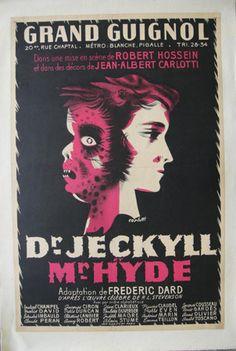 Dr Jeckyll et Mr Hyde par Carlotti au théâtre du Grand Guignol (affiche)