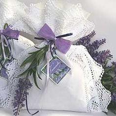 Pretty lace edged lavender bags.
