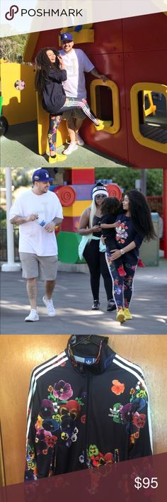 As seen on Blac Chyna Chyna turns negatives into positives ,Be like Chyna and Slay in this adidas floral AOP set Adidas Other