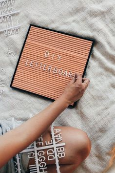 This Letter Board DIY was so easy and really fun to do. I have been looking around online forever for a pink letter board, but they were all so darn expensive. I came across a DIY letter board on Pinterest and was SO excited. Here's what you'll need: * Frame - buy one that is thick e