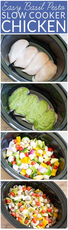 Chicken Pesto Pasta Easy Crockpot