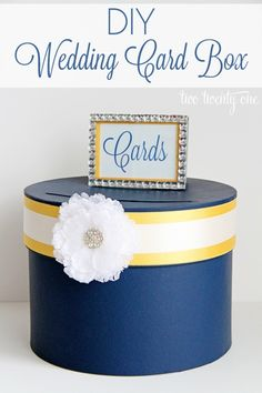 Decorate in your color scheme. Way to collect wedding cards/gift certificates/money in one box inaccessible to others