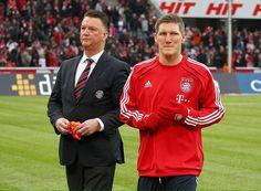 Louis van Gaal & Bastian Schweinsteiger at Bayern Munich