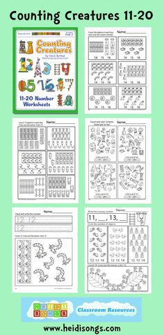 Counting Creatures Vol. 2: to help children practice #counting sets from 11-20.