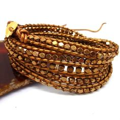 New vintage style friendship weaving leather wrap african jewelry natural stone bead bracelet adjusted size CL-490 -- You can get additional details at the image link.
