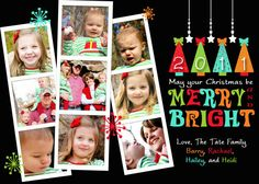 Photo Christmas Card - Merry and Bright
