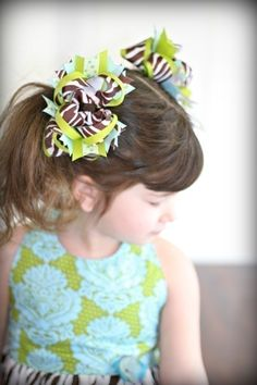 Hair Bow Instructions how to make hair bows by BirdsongPatterns