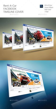 Rent A Car Facebook Timeline Cover Template PSD. Download here: http://graphicriver.net/item/rent-a-car-facebook-timeline-cover/16386404?ref=ksioks
