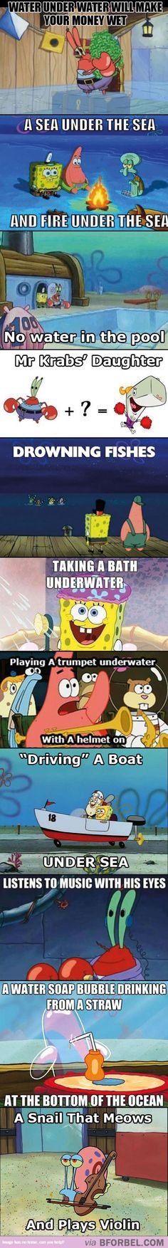 11 Times Spongebob Squarepants Made You Question Logic…