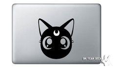 """moon cat,"" computer decal (luna from sailor moon!)"