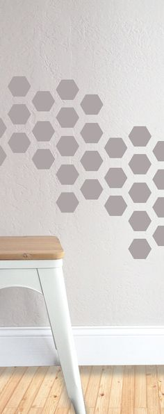 30 INDIVIDUAL - 3.5X3.5 HONEYCOMB    Fully removable and reusable wall decals that will brighten and add character to any room. -100% polyester