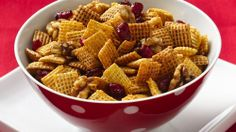 Cranberry-Nut Cinnamon Chex® Mix - Holiday Cottage