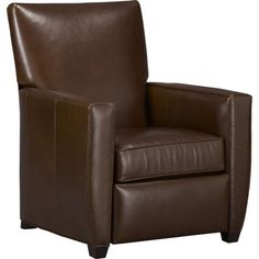 Similar to our Storehouse Leather Recliner - Streeter Leather Recliner in Chairs | Crate and Barrel