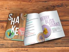 The brief from Natural Warrior was to create an e-book that was funky, fresh and packed with life so that people would be excited and inspired to make the shakes and drink them.