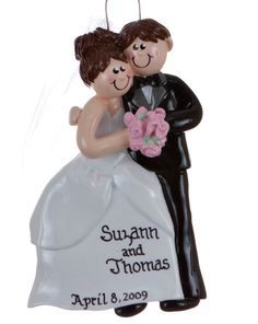 Wedding Couple ornament ..would be awesome for this year!