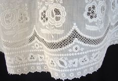 Maria Niforos - Fine Antique Lace, Linens & Textiles : Antique Christening Gowns & Children's Items # CI-47 Circa 1800's, Fine Ayrshire Lace Dress