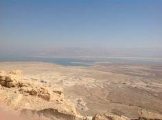 La mer Morte vue du site de Massada.