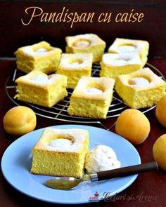 Prăjitură Crăiasa Zăpezii - cu blat din albușuri, cremă de vanilie și ciocolată - Lecturi si Arome Cornbread, Quinoa, Deserts, Caramel, Sweets, Cheese, Ethnic Recipes, Food, Mai